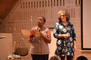 Carole Bloch and Ntombizanele Mahobe from Praesa.