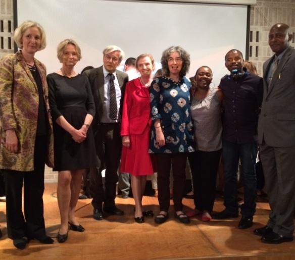 Dr. Raabe, Kirsten Boie, Dominik von König, Helen Sigeland, Carole Bloch, Ntombizanele Mahobe, Malusi Ntoyapi and Consul General Monyemangene.