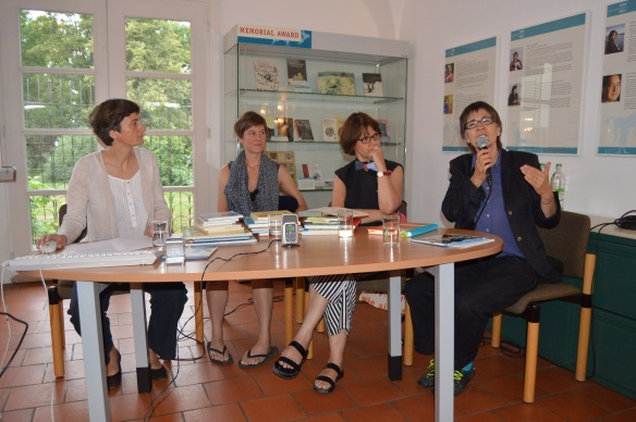 Jutta Reusch, Martina Mair, Rotraut Susanne Berner, Verena Ballhaus (von links nach rechts)